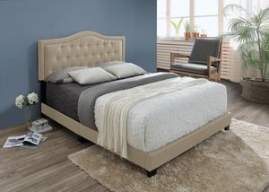Brand New Queen Size Upholstered Bed Frame ONLY for Sale in Silver Spring, MD
