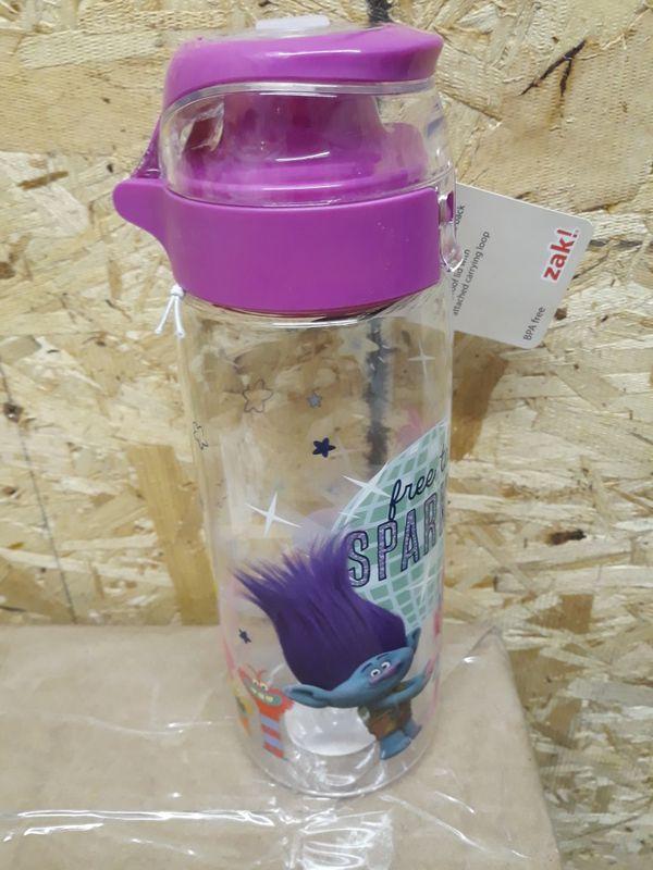 Trolls 25oz Plastic Water Bottle Pink - Zak Designs