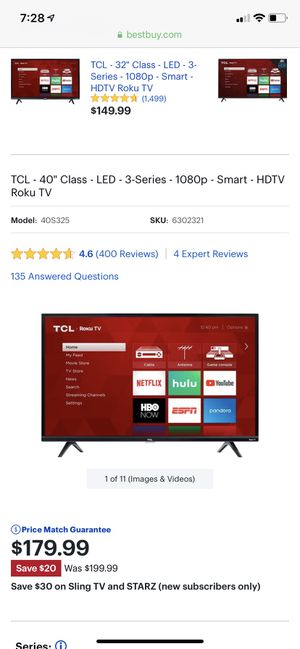TCL Smart TV (Roku) for Sale in Washington, DC