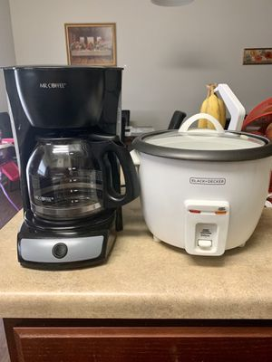 coffee maker and rice cooker for Sale in Columbia, SC