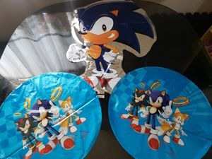 Sonic balloons sonic decorations for Sale in Bellflower, CA