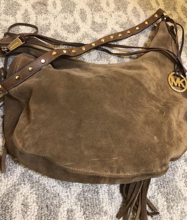 Michael Kors Rhea hobo suede bag, gently used