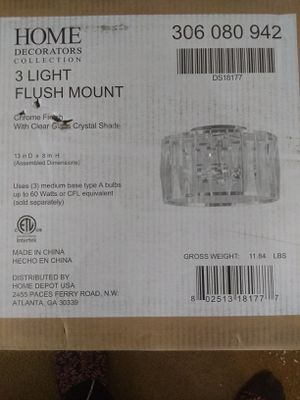 Home Decorators Collections 3 Light Flush Mount #306080942 #DS18177 for Sale in Garfield Heights, OH