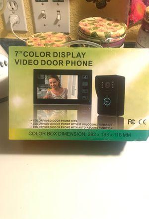 """Video door bell/intercom 7""""screen and door bell camera new easy to install for Sale in Orange, CA"""