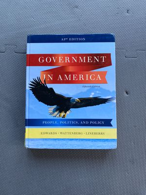 Government in America 15th edition for Sale in Shrewsbury, MA