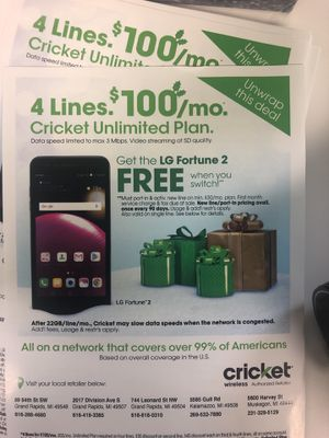 CRICKET WIRELESS for Sale in Kalamazoo, MI