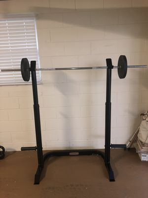 Weight Rack, Bar, Plates for Sale in Altamonte Springs, FL