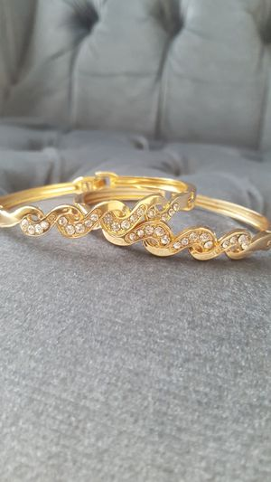 Set Of 3 Rose Gold Crystal Bangles for Sale in Columbus, OH