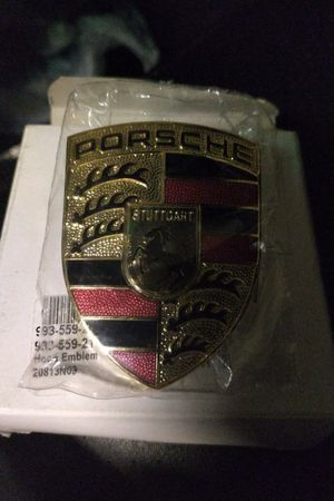 Authentic PORSCHE Hood Crest OEM--Brand New in Box and Plastic for Sale in Fairfax, VA