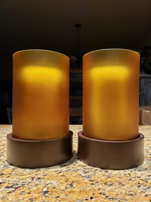 2 Amber colored glass candle holders for Sale in Miramar, FL