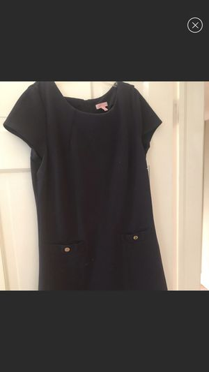 Lilly Pulitzer Navy Blue Work Dress w Gold Buttons - Size L for Sale in Baltimore, MD