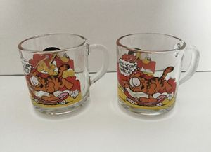 Garfield and Odie Collectible Glass Mugs - 1978 for Sale in Colchester, VT