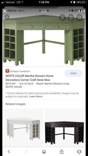 Green corner organizer craft desk for Sale in Sacramento, CA