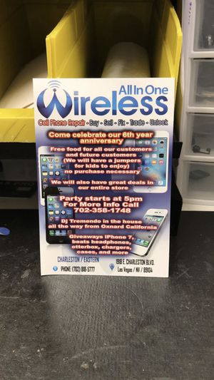 All in one Wireless 6th Year anniversary! Saturday September 30th! for Sale in Las Vegas, NV