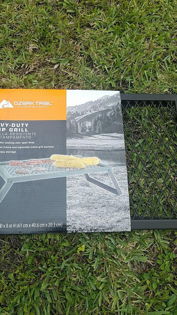 Heavy duty camp grill