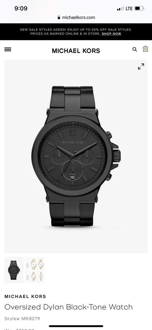 Matte Black Michael Kors men's Watch