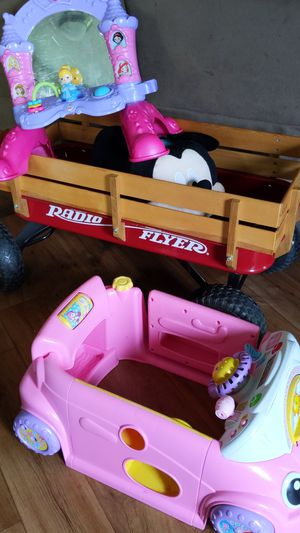 Kids wagon , mirror and toy car for Sale in Saint Petersburg, FL