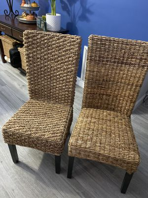 Seagrass Chairs / Qty-2 / Very Good Condition for Sale in Tamarac, FL