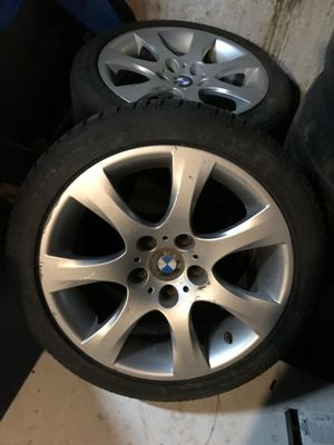2 bmw e90 17inch rear wheels and tires best offer for Sale in Newark, NJ
