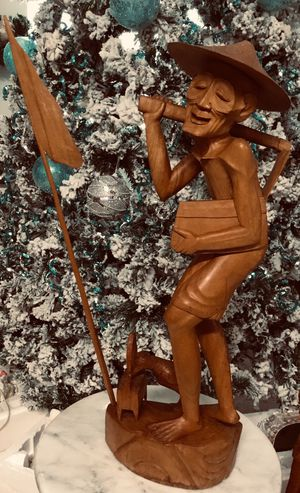 Vintage Handcrafted Collectible Indonesia Rosewood Balinese Farmer. for Sale in Tampa, FL