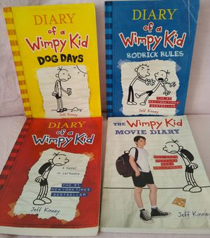 4 diary of a wimpy kid books for kid. All for $10 for Sale in Hayward, CA