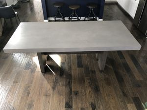 Cement Top Dining Room Table for Sale in North Ridgeville, OH