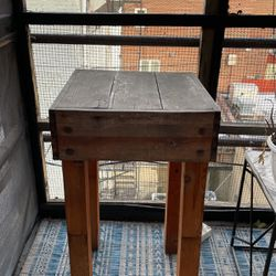 Outdoor Table, Perfect For A Plant Stand! Solid Wood. for Sale in Washington,  DC
