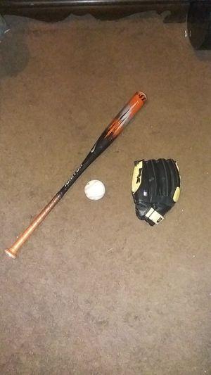 Baseball bat, baseball, baseball glove for Sale in Whittier, CA