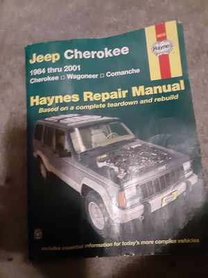 Haynes repair manual and a few misc. parts for a jeep for Sale in Tacoma, WA