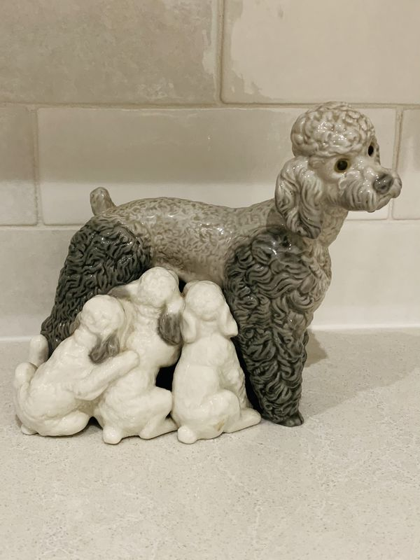 LLADRO Poodle Figurines #1257 Unboxed