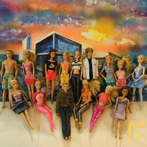 Barbie ken and friends lot of 15 w/ modern dolls casual for Sale in Garland, TX