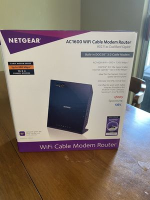Netgear AC1600 WiFi cable modem router for Sale in Arlington, TX