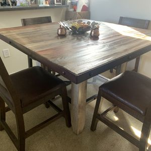 Solid wood and metal counter-height dining table set! for Sale in San Diego, CA