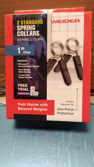 To Standard Spring collars barbell Clips one in Weider for Sale in Philadelphia, PA