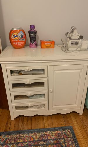 Changing table repurposed as laundry room storage for Sale in Hartford, CT