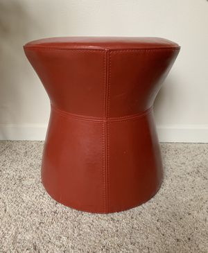 • vintage burnt orange red vinyl ottoman stool plant stand • for Sale in Issaquah, WA