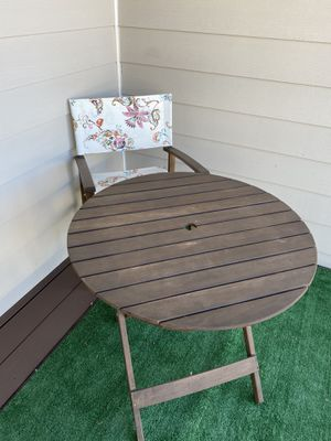 Patio table and chair for Sale in Lake Zurich, IL