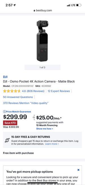 DJI osmo pocket 4K for Sale in Goodyear, AZ