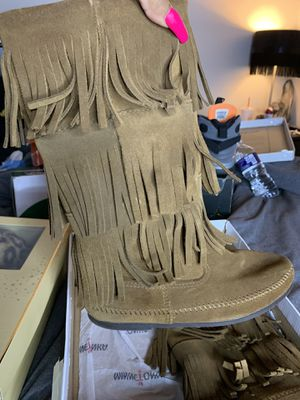 Moccasin Fringe Boots for Sale in Raleigh, NC