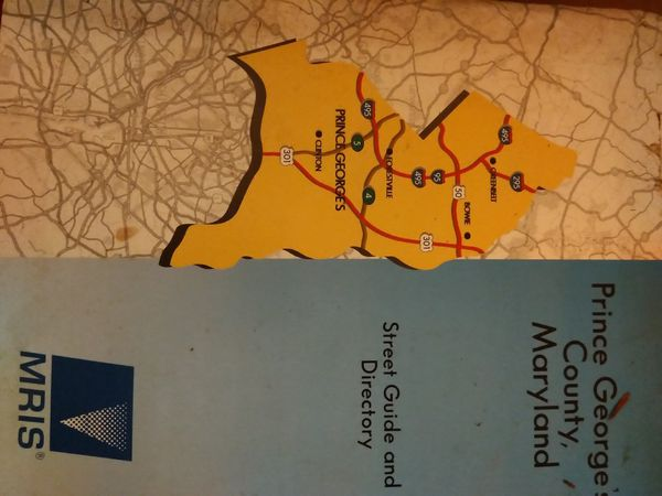 Prince George's county Maryland street guide in directory MRIS 1997-1998