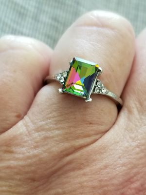 Silver CZ Irridescent Ring Size 7 for Sale in Abilene, TX