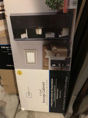 4 Shelf Storage Cabinet Black Brand New In Box for Sale in Las Vegas, NV