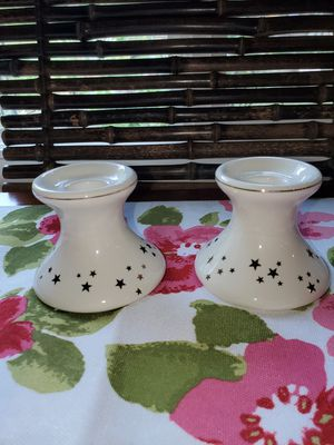 IVORY CANDLE HOLDERS WITH GOLD STARS for Sale in Diamond Bar, CA
