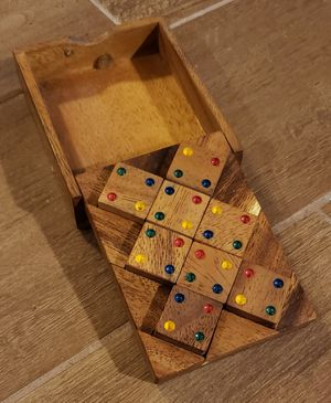 Vintage Wooden Numbered Domino Puzzle Game for Sale in Kyle, TX