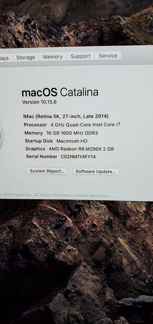 """2014 27"""" 5k apple imac for Sale in Gilbert, AZ"""