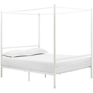 Mainstay metal canopy bed frame queen for Sale in Rome, PA