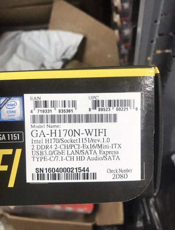 Gigabyte H170N WiFi Motherboard 1151 socket New In box