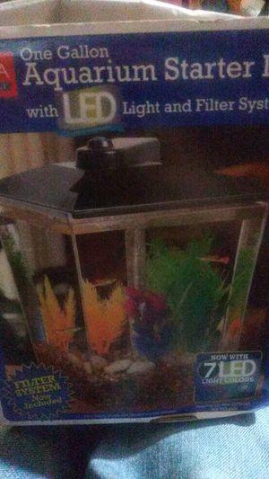 One Gallon Aquarium Starter Kit for Sale in Oklahoma City, OK