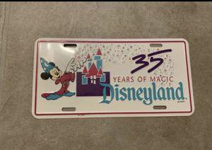 Disney License Plate Vintage (35 Years of Magic Disneyland) for Sale in Santa Ana, CA