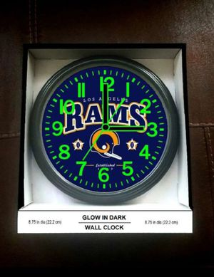 Rams New in Box Glow in the Dark Wall Clock for Sale in Burbank, CA